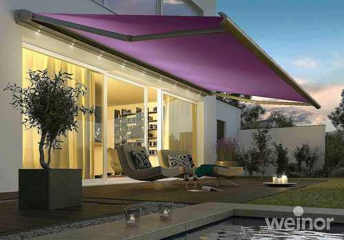 store banne de couleur violet