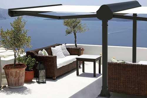 store double pentes pour terrasse