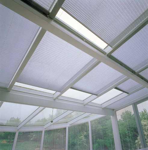 store plisse de couleur blanc pour veranda