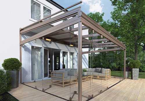 store toiture marque Oasis vitré